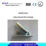 El metal de Zamak a presión el zócalo del montaje de la asta de bandera de la fundición
