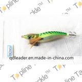 Gabarito de calamar da pesca com cor verde