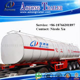 3 Radachse 30t Flammable Liquid Fuel Oil Chemical Tank Semi Truck Trailer (50m³) (LAT9402GRY)