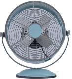Ventilatore da tavolo elettrico dell'oggetto d'antiquariato del metallo del ventilatore dell'orologio da 8 pollici mini
