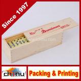 Domino del doppio sei con la casella di legno (431018)
