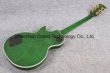 Guitare électrique de premier de vert de flamme de tigre type de Lp