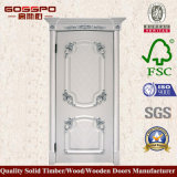 White Color MDF Security Intérieur Room Door (GSP8-042)
