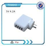 Il migliore caricatore della parete del USB 5V 4.2A del caricatore 4 della parete del USB di Multiport