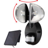 Mur solaire. E 4W Twin Head Spot Security Light