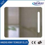Nuevo espejo de plata ligero montado en la pared LED del cuarto de baño