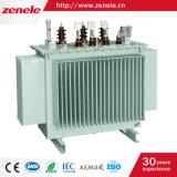 tipo transformador do petróleo de 125kVA 11/0.4kv da distribuição de potência