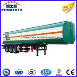 Eje 3 50000 litros de acero al carbono del tanque de aceite del remolque del camión semi con 4 Silos