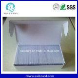 Cartão branco Printable térmico do PVC do plástico com laminação da folha de prova