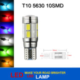 T10 10SMD 5630 bombillas de la lámpara LED de Canbus W5W Side Car Automotive cuña de luz T10 5630 10SMD LED