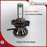 차, 유효한 H7/H3/H11/6h8/H9/H4/9004/H13를 위한 Single/Hi 낮은 광속 LED 헤드라이트