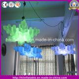 Fiocco di neve gonfiabile chiaro del LED per la decorazione di festa di natale