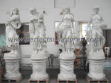 Высекающ каменную скульптуру мрамора статуи для украшения сада (SY-X1183)
