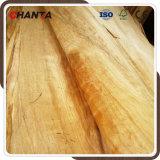 Chapa de madera rotatoria natural de la cara de Okoume que corta para la madera contrachapada