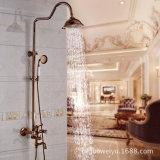 El cobre plateado Baño Bañera grifo de la ducha