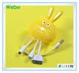 Nuevo conejo 3 de la historieta en 1 cable del USB con la velocidad rápida (WY-CA32)