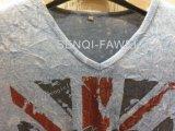 남자 스포츠 착용에 있는 백색 퇴색한 고장 적당한 t-셔츠는 Fw 8655를 입는다