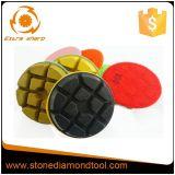 """3 """" almofadas de polonês molhadas secas do assoalho da resina do diamante concreto"""