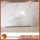 Китайский сляб камня кварца Calacatta белый для кухни Worktops