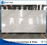 SGSのレポート(大理石カラー)を用いる台所カウンタートップのテーブルの上のための石造りの水晶平板