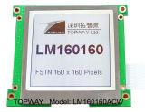 Grafik 160X160 LCD-Bildschirmanzeige-Zahn-Typ LCD-Baugruppe (LM160160) mit kontrastreichem