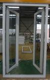 UPVC/PVC Hurrikan-Auswirkung Doppeltes glasig-glänzender Windows und Tür-Entwurf