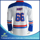 Kundenspezifisches Sublimation Fitted Ice Hockey Jersey für Ice Hockey Sports
