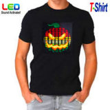 Funciona con pilas LED EL camisas de las camisetas