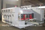 Máquina que ranura y que corta con tintas de la impresión automática de la cartulina acanalada