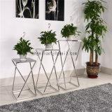Mesa de jantar de aço inoxidável criativa Sala de estar Tipo de piso Mesa de vaso de flores