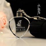 Le trousseau de clés en cristal du coeur K9 libèrent le logo