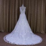 См. до конца V-Шею a - линию типы платья венчания