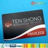 Cartão chave do hotel da identificação RFID da segurança do PVC 125kHz LF TK4100