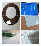 8mm Leuchte-graues Square Tempered Glass