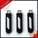 Bleifreie unterschiedliche Form-Zink-Legierungs-dekorative kundenspezifische Metallgepäck-Reißverschluss-Schweber