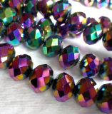 Arco-íris Electroplated 14X10mm Fire Polished Rondelle Beads
