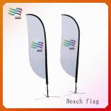 Выдвиженческий дешевый изготовленный на заказ флаг пляжа (HY-AF567)