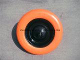 平らで自由な手押し車のタイヤ/ウレタンの固体泡の車輪/手押し車PUの泡の車輪