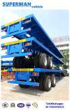 De charriot d'essieu de conteneur remorque à plat lourde de camion semi pour la cargaison