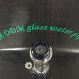 La double pipe en verre de fumage de filtre de boucle Hb-K8, réutilisent des pipes de fumage, conduite d'eau en verre à haute teneur