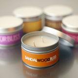 Qualität gerochene elegantes Metalknall-Sojabohnenöl-reine Aroma-Zinn-Kerze