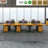 Edge reto Bright Yellow Bamboo Office Executive Desk Certificated por Fsc (HY-H60-0103)
