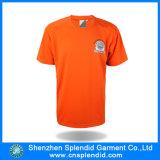 T-shirt barato alaranjado feito sob encomenda da cópia do sopro dos homens da alta qualidade