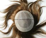 """薄い皮10の"""" Remyのモノラルベース+ Npuの自然なヘアラインメンズToupee"""