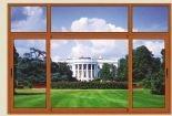 Dobro popular Windows de alumínio de vidro da canaleta