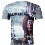 Personnaliser le T-shirt d'impression de la mode 3D Digitals pour les hommes