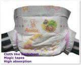 마술 같이 Abella 고품질 피복은 Velcros 연약한 편리한 아기 기저귀를 끈으로 엮는다