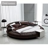 Das moderne runde Bett der Schlafzimmer-Möbel im echten Leder (A-15#)