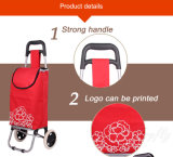 Supermarkt-Einkaufen-Laufkatze mit Polyester und Metall für Förderung