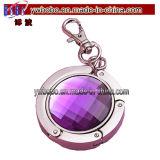 Вешалка портмона подарка промотирования пурпуровая с деталями Keychain самыми лучшими выдвиженческими (G8075)